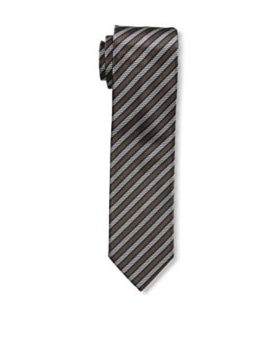Ermenegildo Zegna Men's Striped Tie, Brown