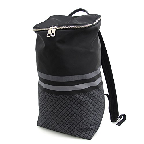 Gucci Diamante Web Black Nylon Backpack