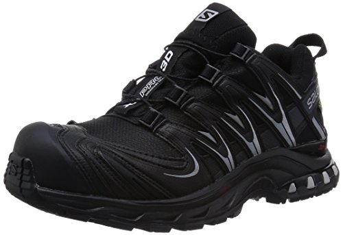 Salomon XA Pro 3D GTX - Scarpe da Trail Running Donna, Nero (Black/Asphalt/Light Onix), 40 2/3 EU