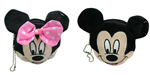 Disney Mickey and Minnie Mouse Plush Coin Wallet Set