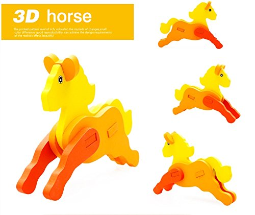 Thinkmax 3-D Wooden Puzzle Affordable Gift For Your Little One!£¨Horse) front-263164