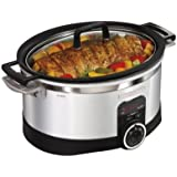 Hamilton Beach Stovetop Slow Cooker - Black/silver (6 Quart)
