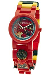 Lego Ninjago Kai Nindroid Unisex Quartz Watch with Red Dial Analogue Display and Multicolour Plastic Strap 9009822