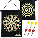 ALIG DOUBLE SIDE MAGNET DART BOARD GAME SIZE 15 INCHES WITH 6 FREE DARTS