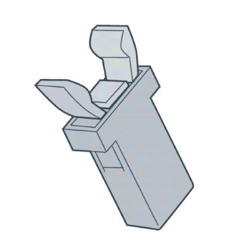 Brabantia Pièce Détachée Clip de fermeture NOIRE pour Touch-Bin Poubelles et Touch-Bin Boîte au Pain 383809