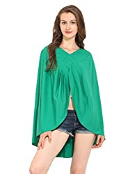 Solid Green Polyester Kaftan X-Large