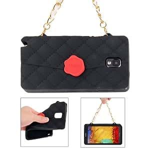 Cliche Series Handbag Style Silicone Case for Samsung Galaxy Note 3 N9000 in Black