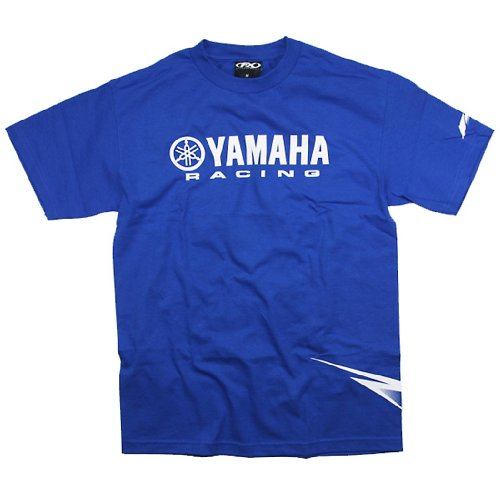 Factory Effex 'Yamaha' Strobe T-Shirt (Blue, Medium)