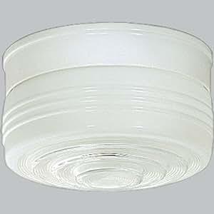 "White Single Light Flush Mount Size: 5.25""H X 8.5"" diameter"