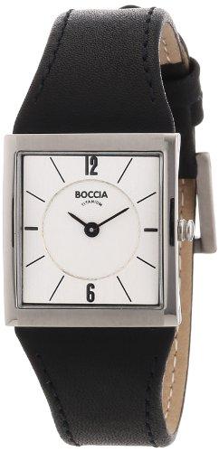 Boccia Ladies Titanium Leather Strap Watch B3148-01