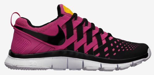 NIKE FREE TRAINER 5.0 MEN Running Shoes Size US 9.5 Black Pink 579805 607