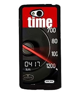 PRINTVISA Speed O Meter Premium Metallic Insert Back Case Cover for LG L90 - D5780