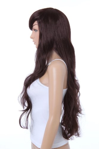 Sexy Long Full Wig (Model: Jf010031) (Dark Brown)