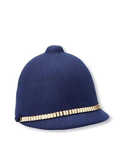 Giovannio Women's Gold Band Hat, Navy