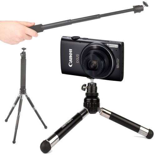 duragadget-telescopic-2-in-1-tripod-monopod-selfie-pod-for-the-canon-ixus-255hs-powershot-s110-power