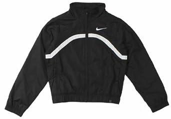 Buy Nike Girls' 8-20 Border Tennis Warm-Up Suit (Black White) by Nike