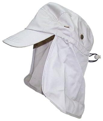 Men/Women Ball Cap Summer Hat With Neck Protection Flap - Beige