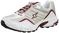 Sparx Mens Silver and Red Running Shoes - 8 UK (SM-04)