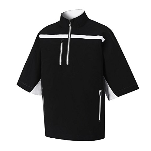 FootJoy DryJoys Tour XP Short Sleeve Rain Golf Pullover 2015 Black/White Large (Dryjoy Rain Wear compare prices)