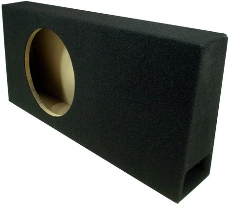 "Asc Single 12"" Subwoofer Universal Regular Standard Cab Truck Ported Sub Box Speaker Enclosure"