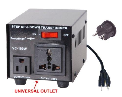 Power Bright VC100W Voltage Transformer 100 Watt Step Up/Down 110 Volt - 220 Volt