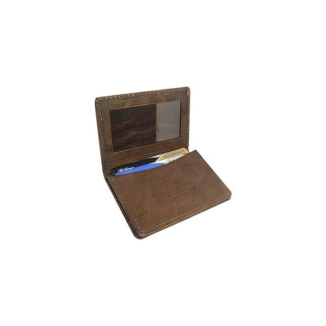 MW580BR 3 x 4 Mens Leather Credit Card Holder Brown Wallet