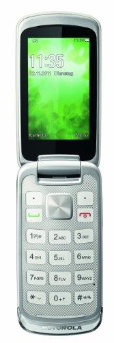 Motorola Gleam+ Klapphandy (6,1 cm (2,4 Zoll) TFT-Display, 2 Megapixel Kamera, USB 2.0) weiß