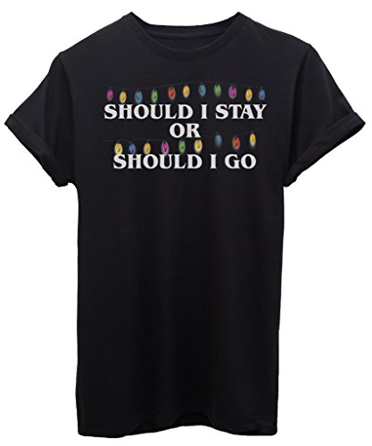 T-Shirt SHOULD I STAY OR SHOULD I GO LUCI STRANGER THINGS - SERIE TV - by iMage - Donna-S-Nera