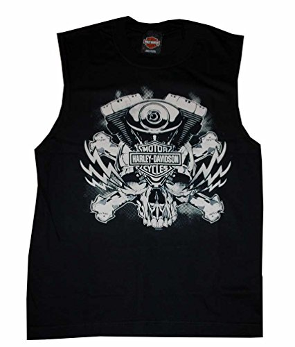 Harley-Davidson Men's V Rod Skull Sleeveless Muscle Shirt Black 30293189 (L)