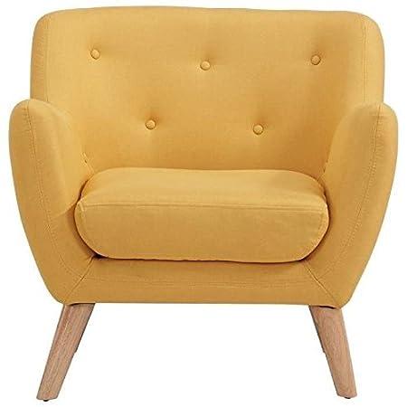 Scandi fauteuil design scandinave jaune