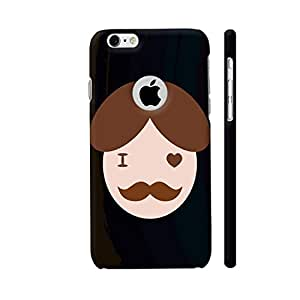 Colorpur I Love Moustache On Black Designer Mobile Phone Case Back Cover For Apple iPhone 6 / 6s with hole for logo   Artist: Designer Chennai