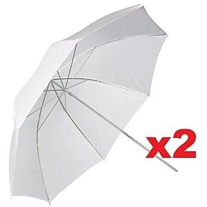 "Neewer 2pcs Professional Photography 33"" 83cm Studio Lighting Reflective Flash Translucent White Soft Umbrella"