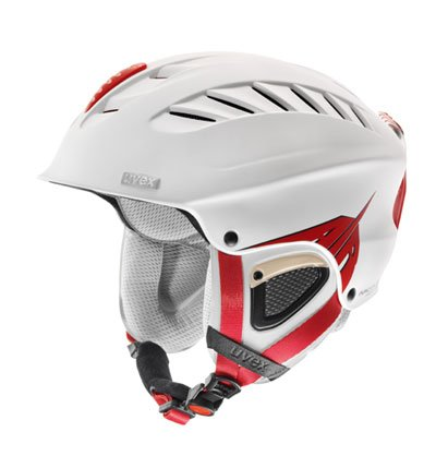 UVEX Skihelm X-Ride Motion Air, white/darkred, 58-60 cm, S56.6.123.2305