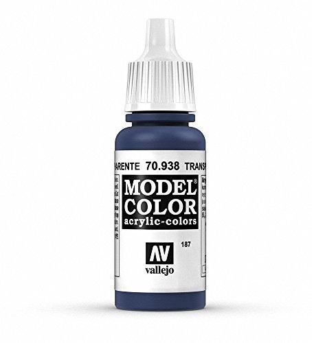 Vallejo Transparent Blue Paint, 17ml