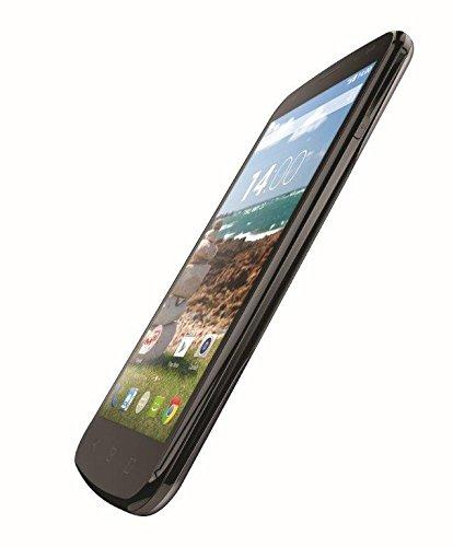 Mobiwire Pegasus Smartphone débloqué 4G (Ecran : 5 pouces 4 Go Simple SIM Android 4.4 KitKat) Gris Foncé