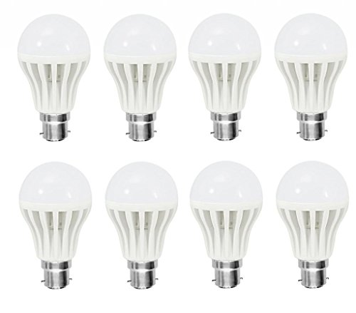 5W Bright White B22 LED Bulb (Set of 8)