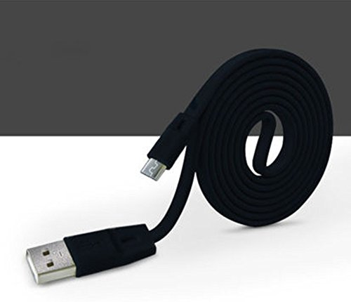 Interesting® 1M suave Alargar Micro USB Puerto de datos de sincronización y carga cuerda de carga del cable - Negro