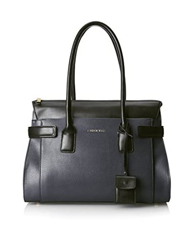 London Fog Women's Crosby Briefcase, Navy