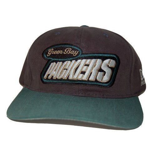 New Era Green Bay Packers NFL Snapback Hat Cap - Grey Green Bill by New Era