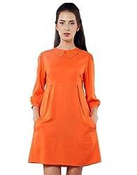 XnY Women's Dress (DR 1020001 A_Orange_8)