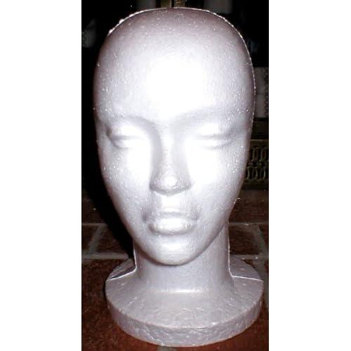 Styrofoam Foam Mannequin Head Wig Hat Model Costume Display