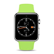 buy Lifeberry Dm09 Deluxe Smart Watch Bluetooth 4.0 Wristwatch 1.54' Wearable Device With Camera Recorder Pedometer Magnet Pogo Pin Charging For Android And Ios Phone (Green)