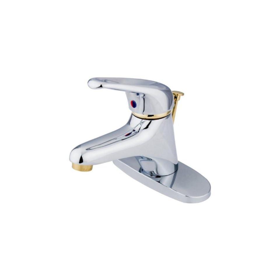 Kingston Brass Chrome/Polish Brass Finish Bathroom Faucet with Handles