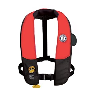 Mustang Deluxe Automatic Inflatable PFD Universal - Red Black by Mustang Survival