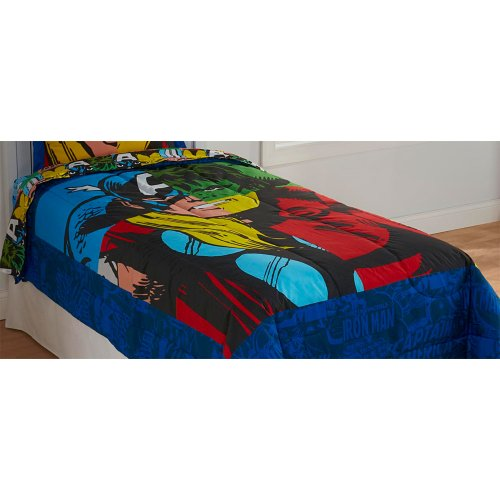 Marvel Comics Classic Avengers 4Pc Twin Bedding Set front-407245
