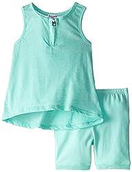 Splendid Littles Baby Girls' Textured Solid Tank Short Set, Light Green, 6 12 Months