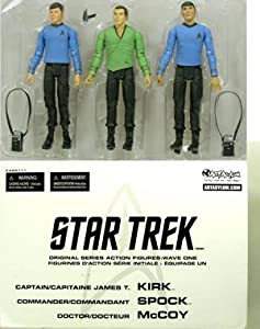 "Classic TV Star Trek Series 1 Kirk Spock McCoy 7"" Action Figure Exclusive Multi-Pack (2003 Art Asylum)"