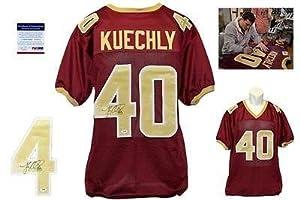 Luke Kuechly Signed Jersey - Burgundy ITP Boston College - PSA DNA Certified -...