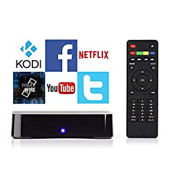 Android TV Box with pre-installed apps including Kodi, YouTube, Netflix (No Setup Required, Just Plug & Play)