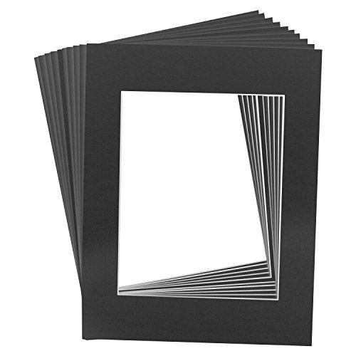 us-art-supply-art-mats-brand-premier-acid-free-pre-cut-16x20-black-picture-mat-matte-face-frames-inc